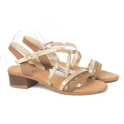 Sandale na malu petu 9903-4A bež