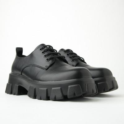 Ženske cipele na debelom đonu CA568 crne