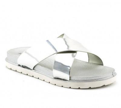 Ženske papuče LP91304 srebrne