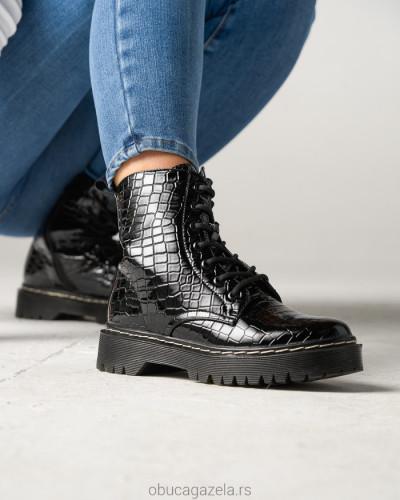 Ženske poluduboke čizme CA528-6 crne