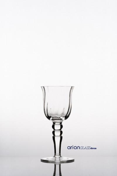 Sfesnic sticla transparenta efect optic H 20 D10 cm