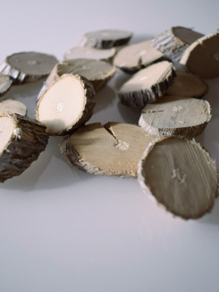 Poze Felii lemn mini albe