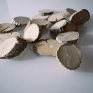 Felii lemn mini albe