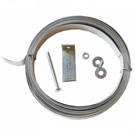 Banda zincata pentru fixare policarbonat 20 mm