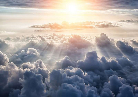 Above the clouds living room wallpaper - 10109