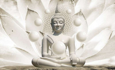 Buddha with pearls wall mural - 3179