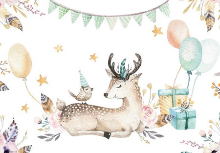 Happy animals with presents wall mural - 13509
