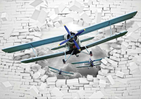 Second world war airplanes breaking the wall - 10407