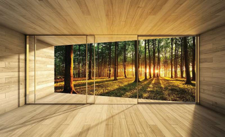 3D terrace forest wallpaper - 3307