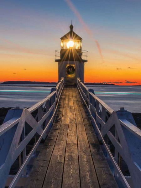 Lighthouse in the sunset bedroom wallpaper - 12023A