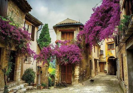 Mediterranean village colour photo wall paper - 11755