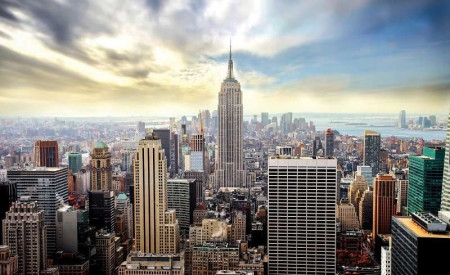 new york skyline mural - 2317