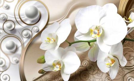 White orchid art photowall -2952