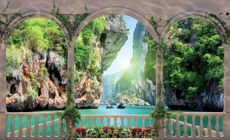 3D effect terrace with a stunning view - 1071
