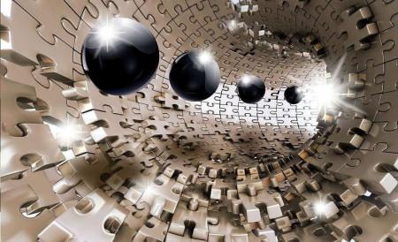 Futuristic sci-fi shapes wall mural - 10233