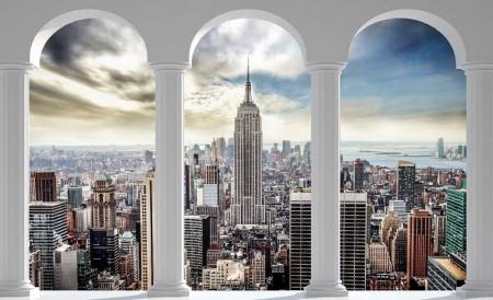 New York 3d wallpaper for living room - 2345