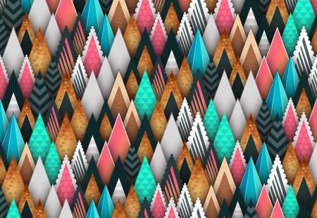 Sharp shapes, infinity effect wallpaper - 12917