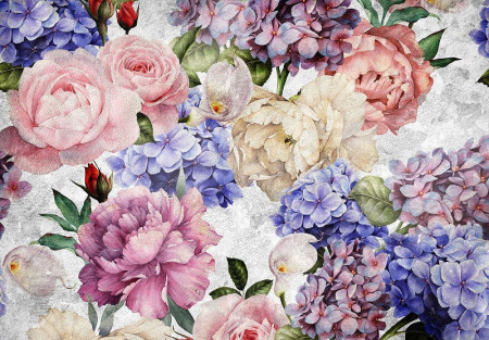 bouquet of flowers wall poster- 13513
