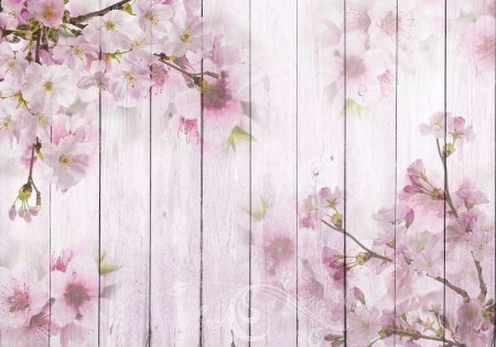 Pink color predominant blossom wall decal - 11468