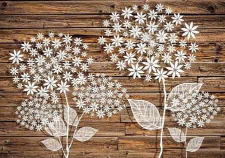 Wooden wall, art wall mural - 3452