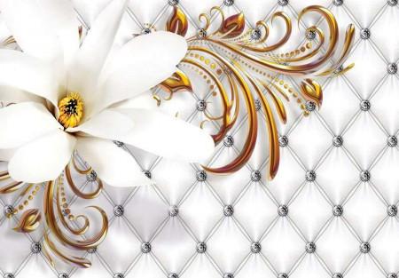 Creamy white stylish wall mural -10306