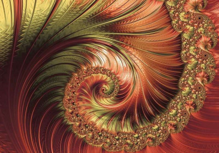 hypnotic spiral in electric colors - 11721