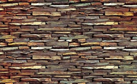 Natural stone tiles wall imitation wallpaper - C0434
