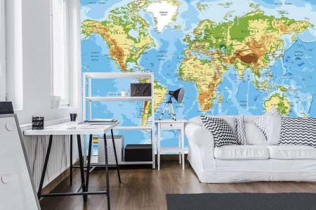 World map as wall poster, wallmural - 10250
