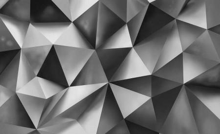 Grey geometric shapes wall mural - 3477