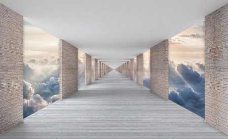 Wall mural Hallway above the skies, clouds and earth - 13659