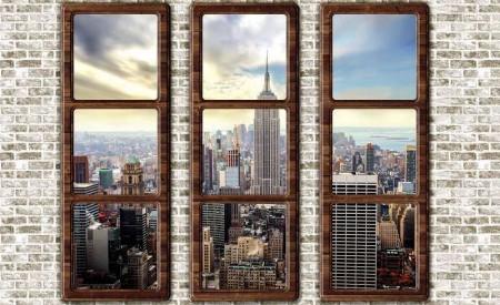 Window wall mural of New York - 2832