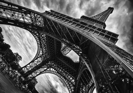 Eiffel tower wide angle shot image - 12672