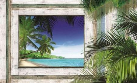 Tropical beach wall mural - 1223