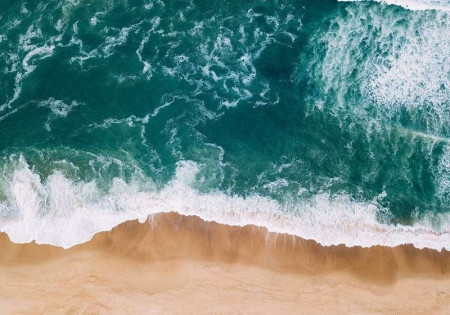 Beach from above with strong turquoise accent - 13033