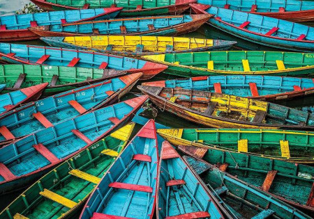 Bunch of fishing boats, color wallpaper - 12636