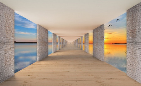 Hallway above the water calm wallpaper - 13661