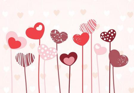 Heart shape balloons wall decoration - 13118