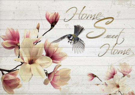 Home sweet home text wall mural -3130