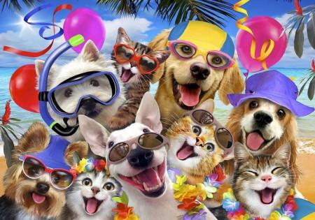 Smiling dogs, children's bedroom wall mural - 12865