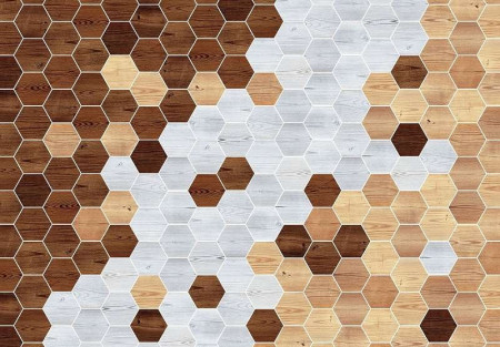 Hexagon-like wallpaper in different colors - 11202