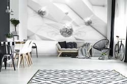 3D shapes artistic wall mural - 12099
