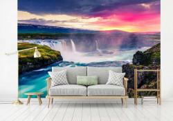 Bright color waterfalls wall mural - 13024
