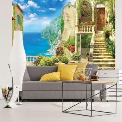 Mediterranian sea view wall paper - 11418