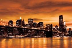 New York city at sunset - 228