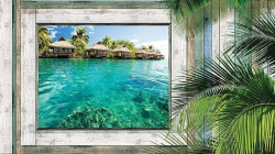Window view to a tropical paradise place - 1228