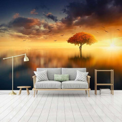 Enchanted tree in the middle of a lake wallpaper - 13003
