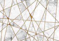 intersecting geometric lines on a marble background - 13717