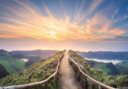 Path over the hills calm wall mural - 12661