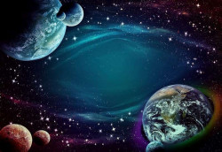 Planets and stars sci-fi image - 12918