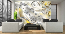 Shiny wall mural in light colors - 2493